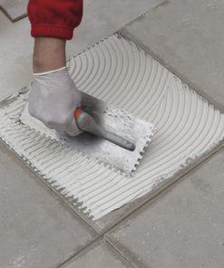 PASTE BINDER FOR LAYING ON CEMENT SCREEDS AND CONVENTIONAL PLASTERS, GYPSUM, PLASTERBOARD AND WOOD