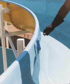 RESIN COATING FOR SWIMMING POOLS CYCLE FOR EXTERIORS AND INTERIORS